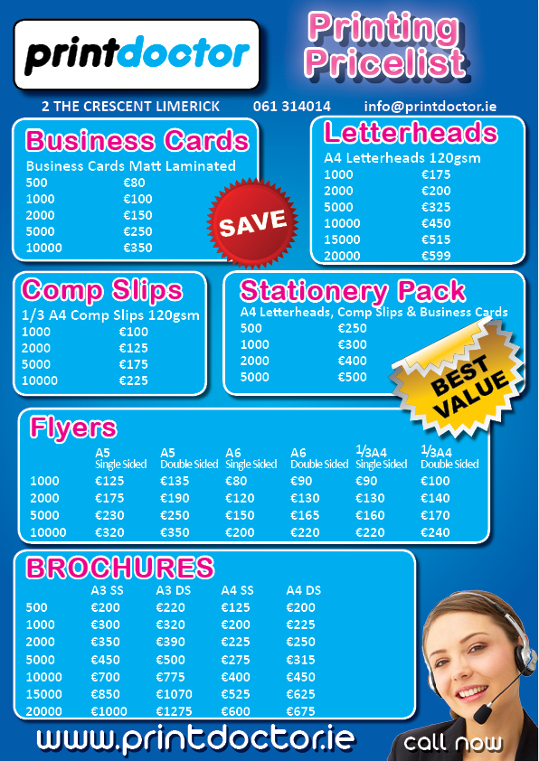 Print Doctor Price List